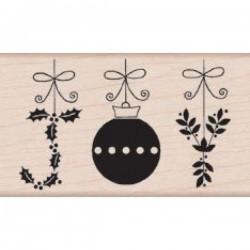 Timbro legno Hero Arts - Joy Ornaments