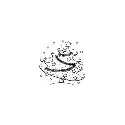 Timbro Legno Aladine - Albero con Stelle
