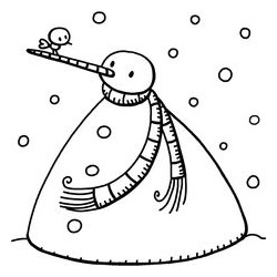 Timbro Legno Aladine - Pupazzo di Neve