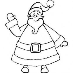 Timbro Legno Aladine - Babbo Natale