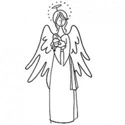 Timbro legno Stampendous - Shepherd Angel