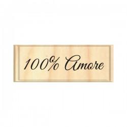 Timbro legno Safira - 100 amore