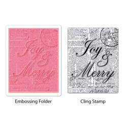Fustella Sizzix Joy & Merry Set