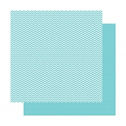 Carta Simple Stories Snap! - Teal Chevron/Mini Dot