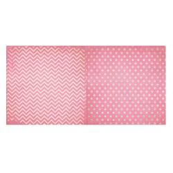 Carta BoBunny Double Dot - Passion Fruit Chevron