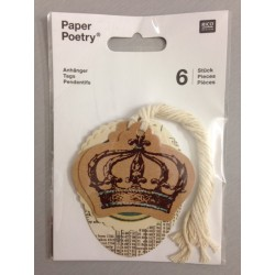 Kit Tags Paper Poetry Rico Design - Crown