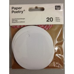Kit Tags Paper Poetry Rico Design - Circle White