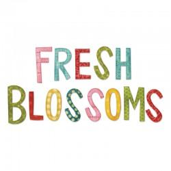 Fustella Sizzix Fresh Blossoms Alphabet
