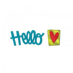 Fustella Sizzix Originals - Phrase, Hello 2