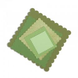 Fustella Sizzix Framelits - Squares, Scallop