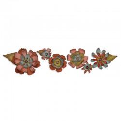 Fustella Sizzix Sizzlitz L Tim Holtz - Tattered Flower Garland