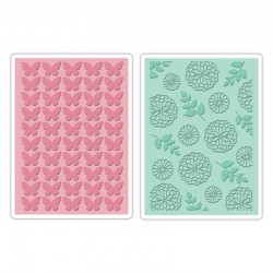 Embossing Folder - Butterfly & Garden Set