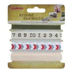 Nastri ScrapBerry's - Set Decorative Ribbons - Around The World