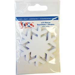 Fiocchi di neve in carta Stix2 - Plain White 1