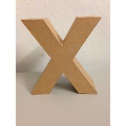 Lettera in Cartone Glorex - X