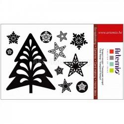 Timbri clear Artemio - albero e decorazioni