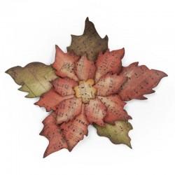 Fustella Sizzix Bigz T.Holtz - Tattered Poinsettia