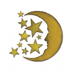 Fustella Sizzix Crescent Moon & Stars