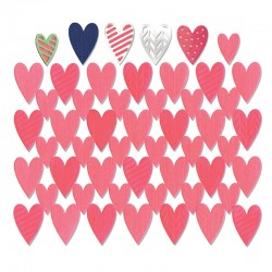 Fustella Sizzix Thinlits - Card Front, Hearts w/Layering Shapes