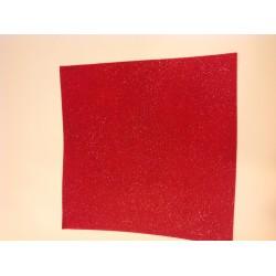 Foglio di feltro artemio - Rosso Glitter