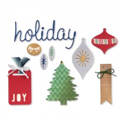 Fustella Sizzix Thinlits - Icons, Ornaments & Tags