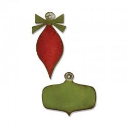 Fustella Sizzix M&S T.Holtz - Mini Retro Ornaments