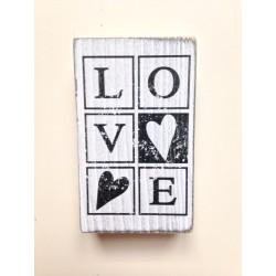 Timbro Legno Artemio - Love