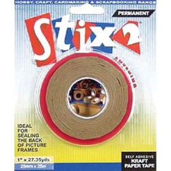 Self adhesive kraft paper tape 25mm - Stix2
