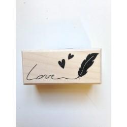 Timbro in legno Artemio - Love