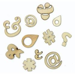 Abbellimenti in legno Studio Calico - Simboli