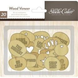 Abbellimenti in legno Studio Calico - Ovali Personalizzati Incisi