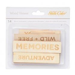 Abbellimenti in legno Studio Calico - Banner Scritte