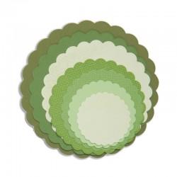 Fustella Sizzix Framelits - Circles, Scallop