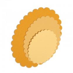 Fustella Sizzix Ovals, Scallop