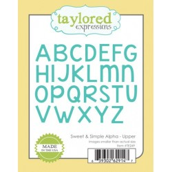 Fustella Taylored Expressions - Sweet & Simple Alpha - Upper