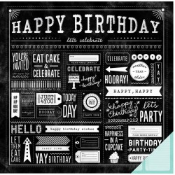 Carta American Craft Pebbles - Birthday Wishes - Party Day