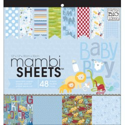 Pacco 48 fogli Me&My Big Ideas - Mambi Sheets - Oh Baby Boy