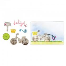 Fustella e TI Sizzix - Delightful Bicycle Set