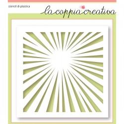 Stencil La Coppia Creativa - Raggi di sole