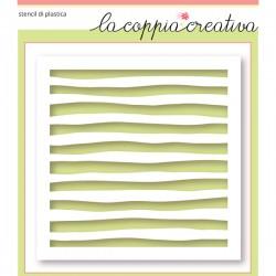 Stencil La Coppia Creativa - strisce acquerello