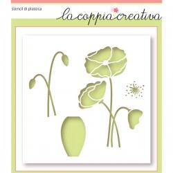 Stencil La Coppia Creativa - papavero
