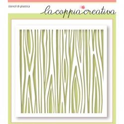 Stencil La Coppia Creativa - Legno