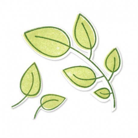 Fustella e Timbro Sizzix - Leaves