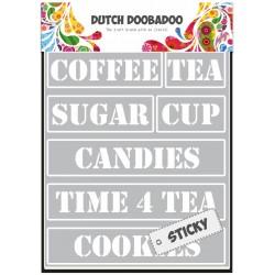 Stencil Dutch Doobadoo - Tea Time