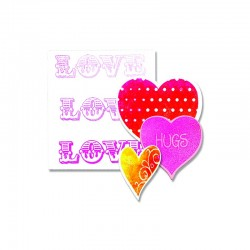 Fustella e Timbro Sizzix -  Love, Hugs & Hearts