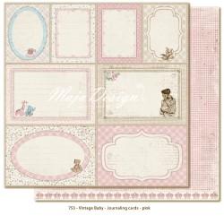 Carta Maja Design - Vintage Baby - Journaling Cards- Pink