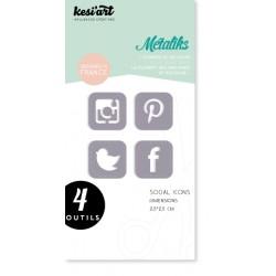 Fustella Kesi'Art - Métaliks Social Icons