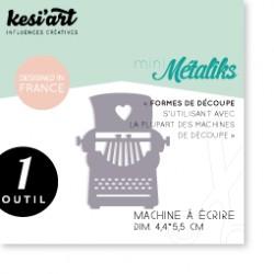 Fustella Kesi'Art - Métaliks Mini Machine A Ecrire
