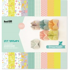 Set carta Origami Kesi'Art - Amande & Cannelle