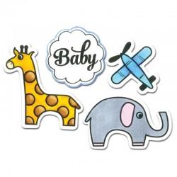 Fustella e Timbro Sizzix - Baby